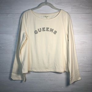 Madewell Queens graphic long sleeve top